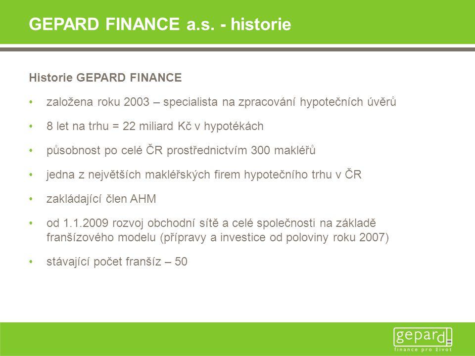 GEPARD FINANCE a.s. - historie
