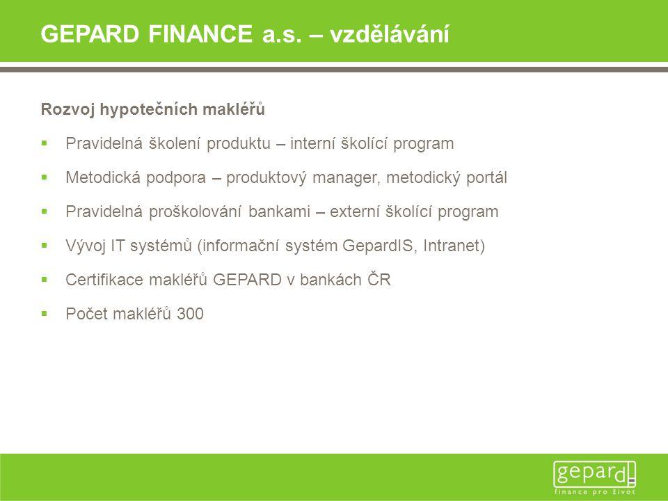 GEPARD FINANCE a.s. – vzdělávání