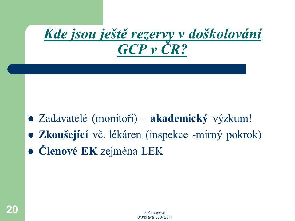 Kde jsou ještě rezervy v doškolování GCP v ČR