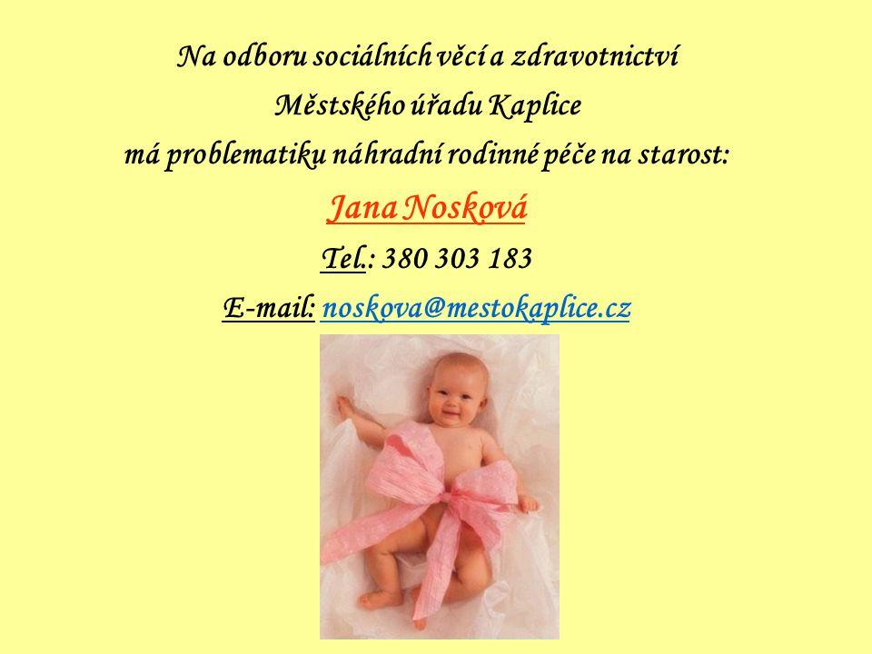 Jana Nosková Na odboru sociálních věcí a zdravotnictví