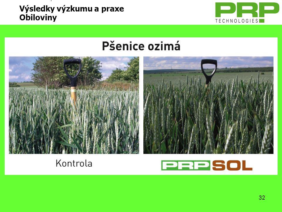 Výsledky výzkumu a praxe Obiloviny