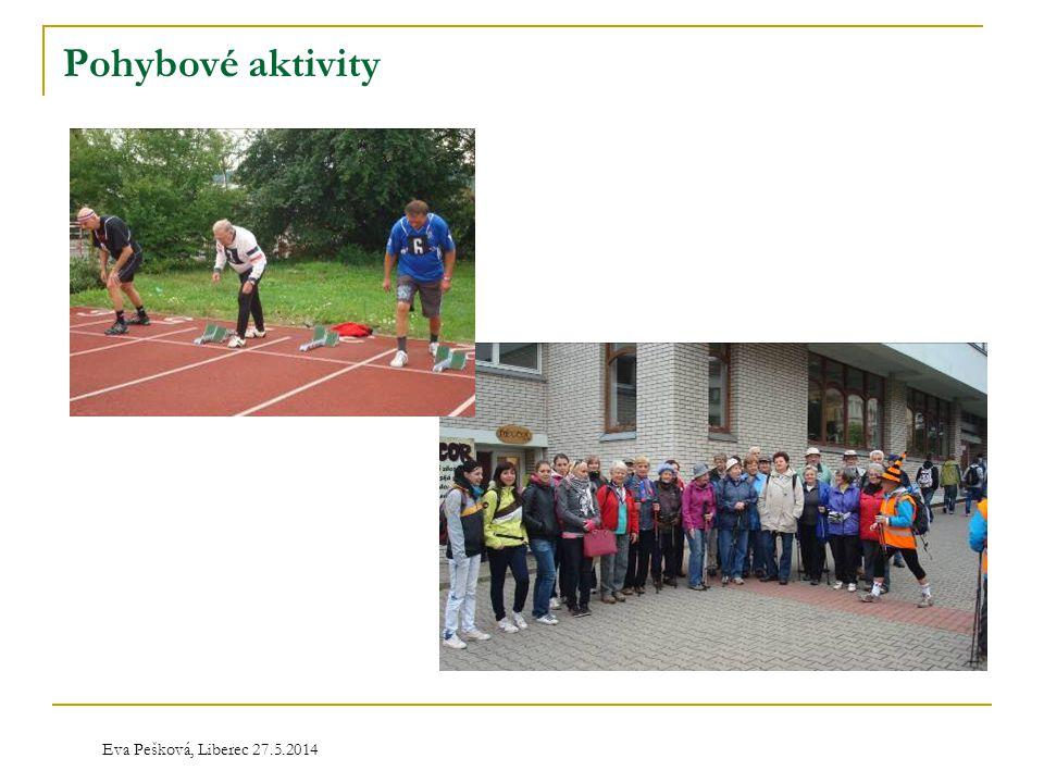 Pohybové aktivity Eva Pešková, Liberec 27.5.2014