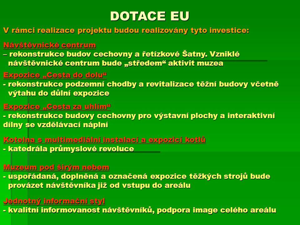 DOTACE EU V rámci realizace projektu budou realizovány tyto investice: