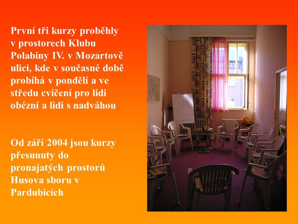 První tři kurzy proběhly v prostorech Klubu Polabiny IV