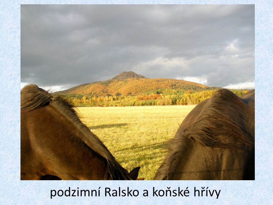 podzimní Ralsko a koňské hřívy
