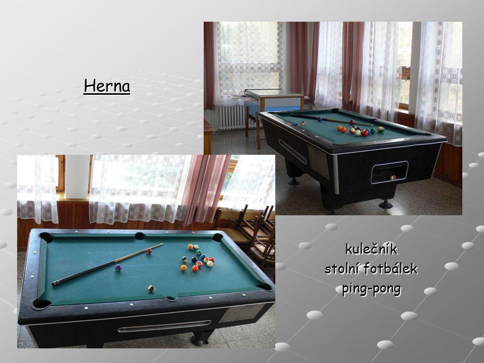 kulečník stolní fotbálek ping-pong