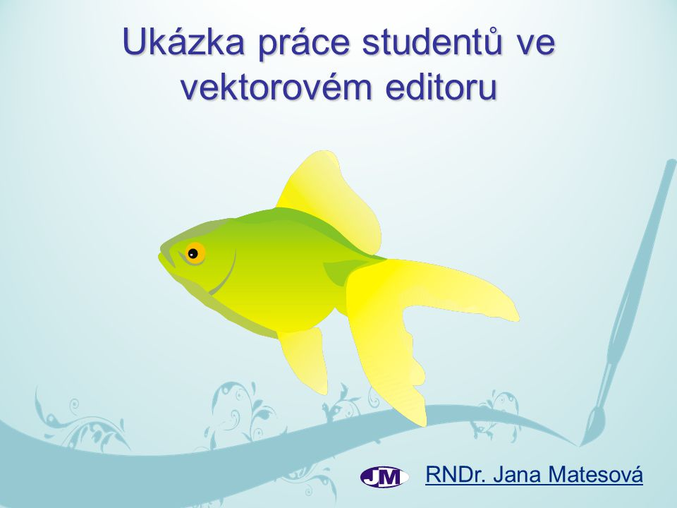 Ukázka práce studentů ve vektorovém editoru