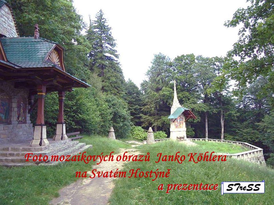 Foto mozaikových obrazů Janko Köhlera na Svatém Hostýně
