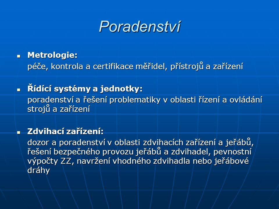 Poradenství Metrologie: