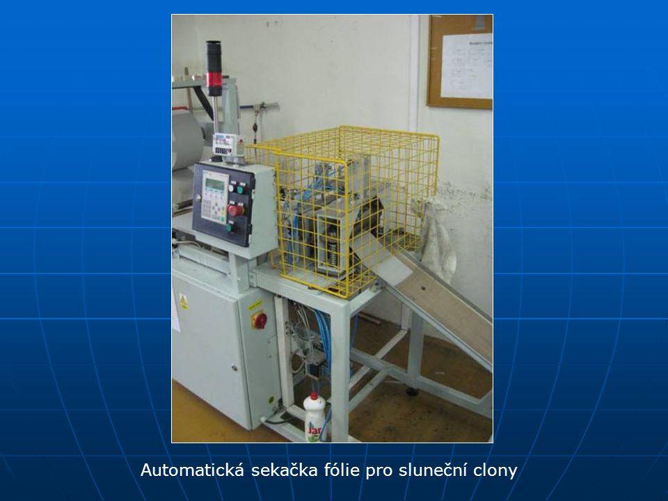 Automatická sekačka fólie pro sluneční clony