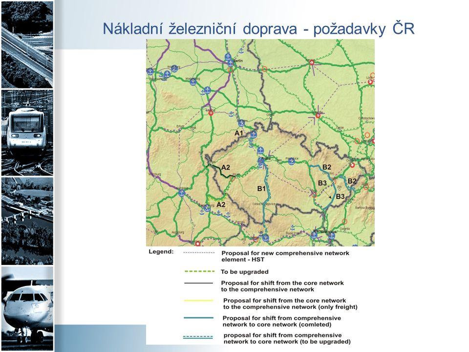 Nákladní železniční doprava - požadavky ČR