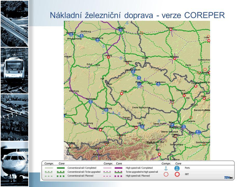 Nákladní železniční doprava - verze COREPER