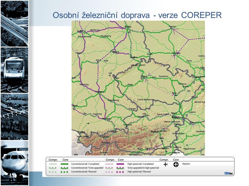Osobní železniční doprava - verze COREPER