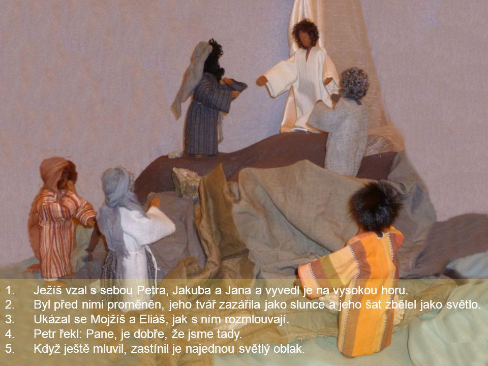 Ježíš vzal s sebou Petra, Jakuba a Jana a vyvedl je na vysokou horu.