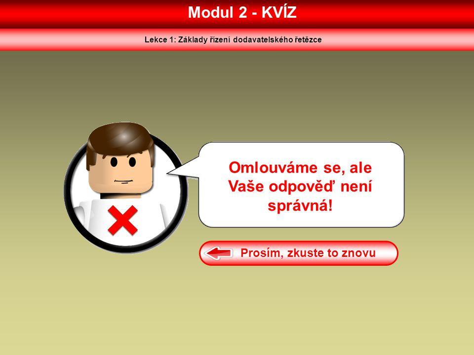 Modul 2 - KVÍZ Omlouváme se, ale Vaše odpověď není správná!