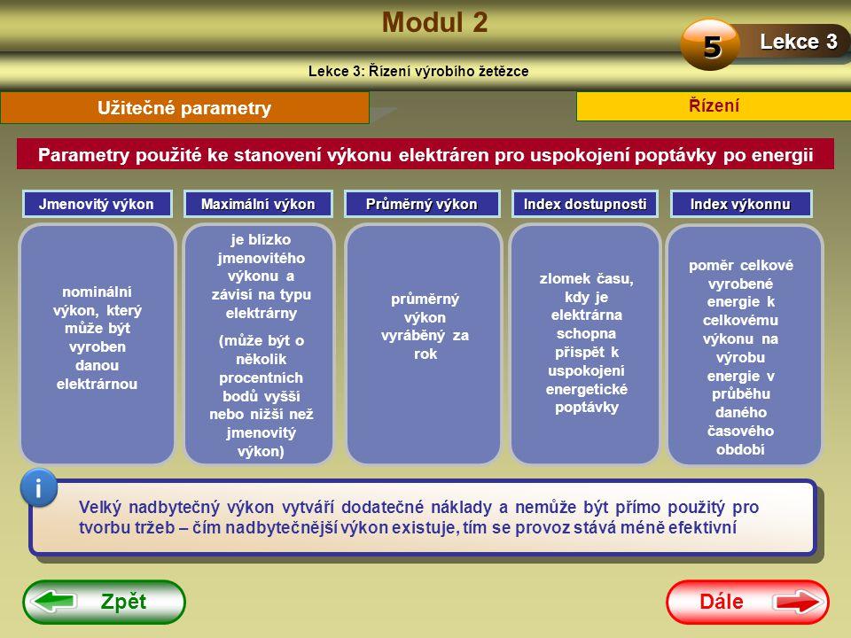 Modul 2 5 i Lekce 3 Zpět Dále Užitečné parametry