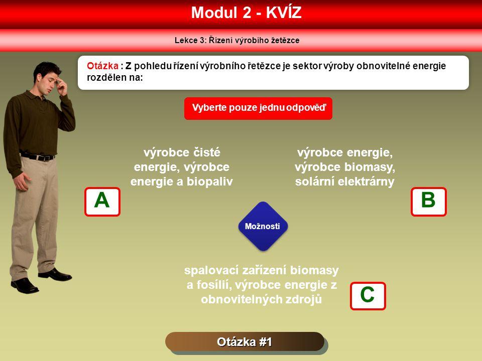 A B C Modul 2 - KVÍZ výrobce čisté energie, výrobce energie a biopaliv