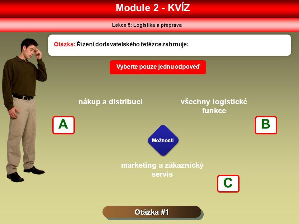 A B C Module 2 - KVÍZ nákup a distribuci všechny logistické funkce