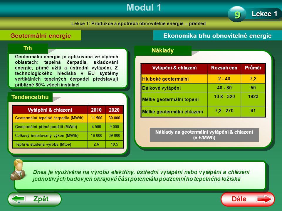 Modul 1 9 Lekce 1 Zpět Dále Geotermální energie