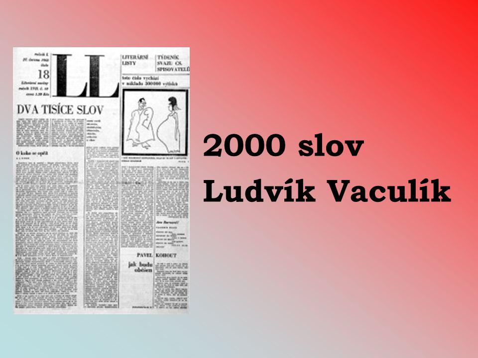2000 slov Ludvík Vaculík