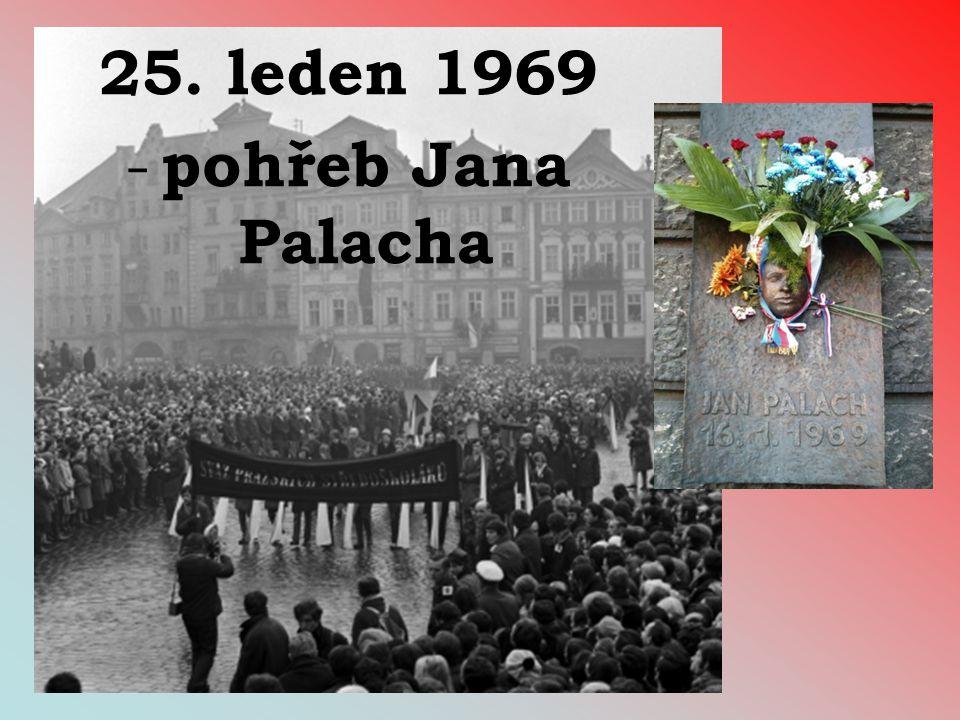 25. leden 1969 pohřeb Jana Palacha