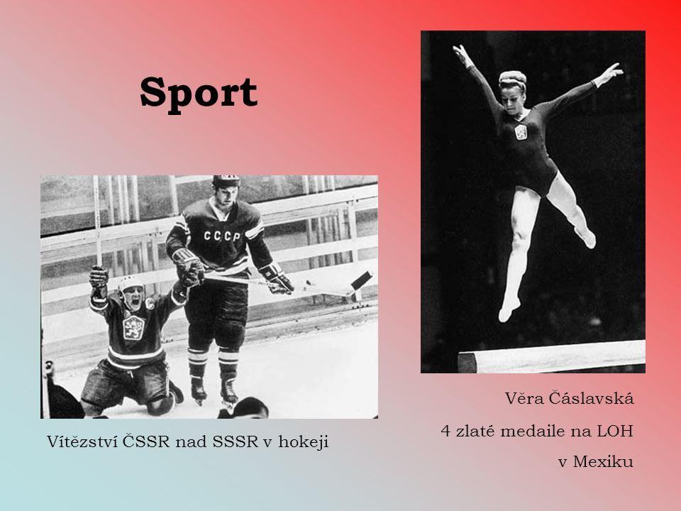 Sport Věra Čáslavská 4 zlaté medaile na LOH