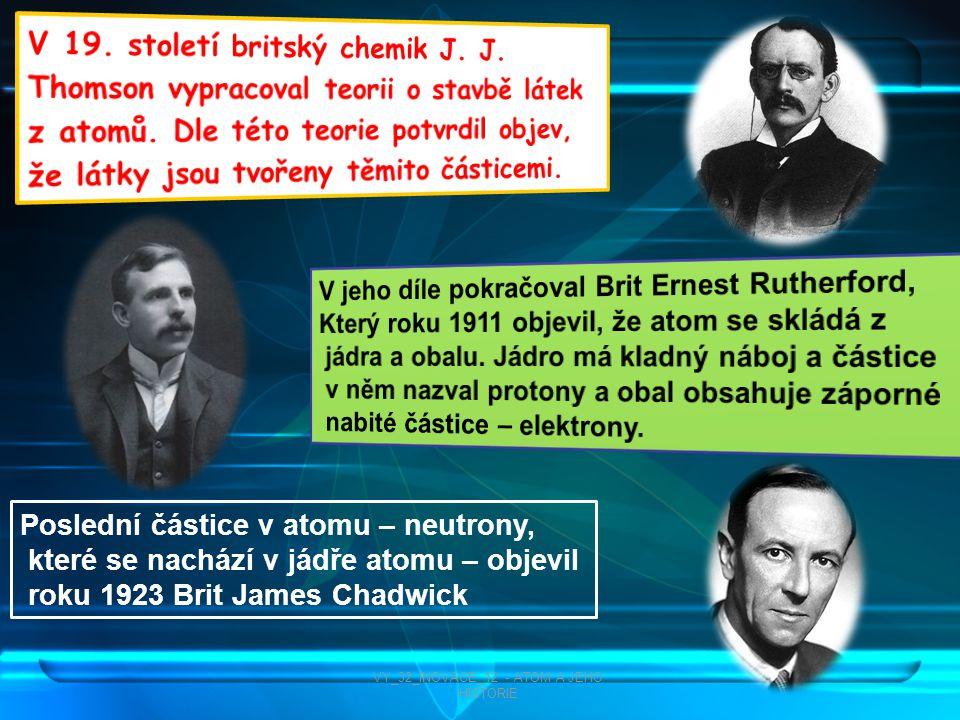 VY_32_INOVACE_12 - ATOM A JEHO HISTORIE