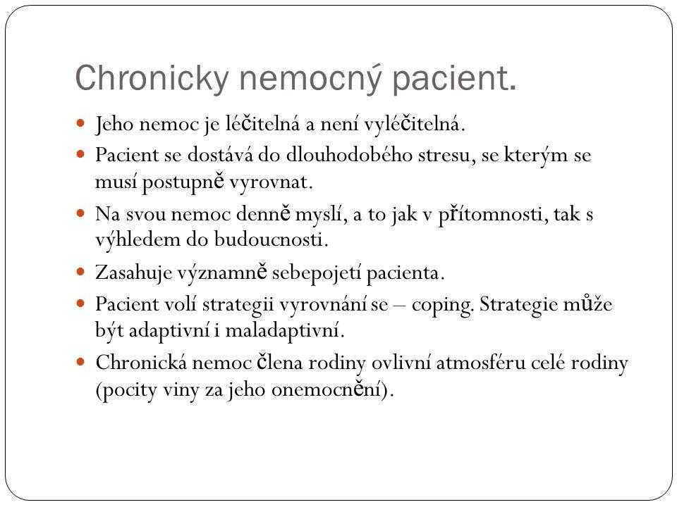 Chronicky nemocný pacient.