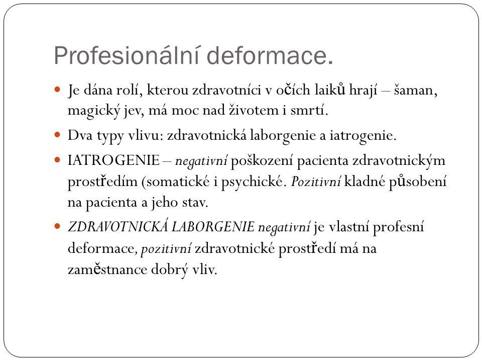 Profesionální deformace.