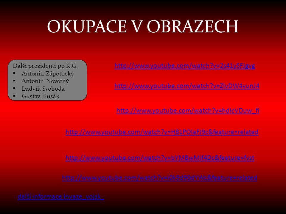 OKUPACE V OBRAZECH http://www.youtube.com/watch v=2s41ySFJgvg