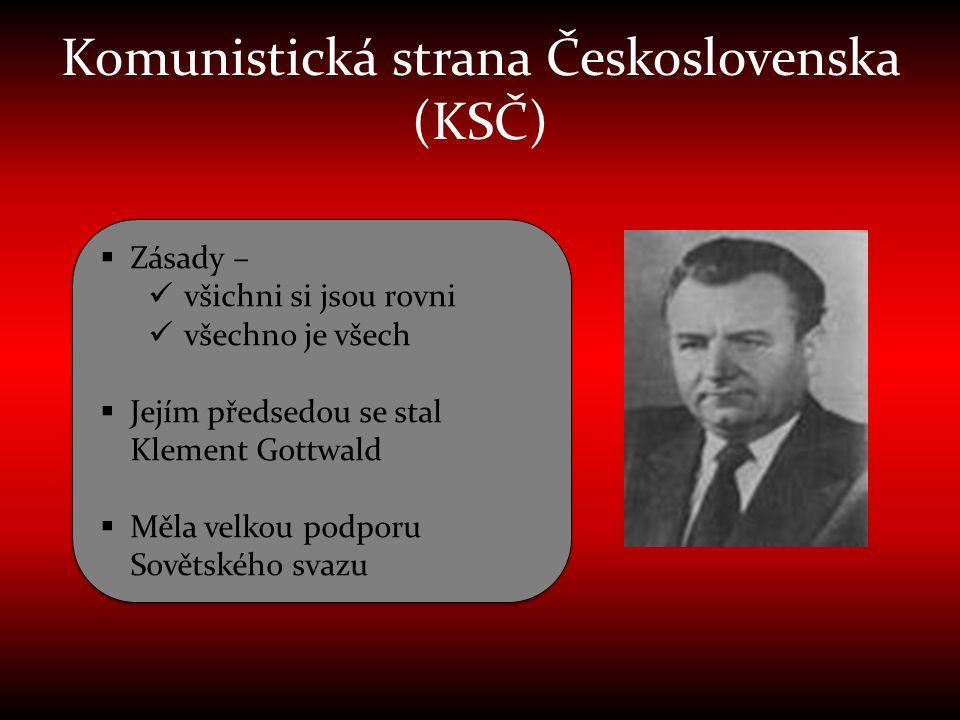 Komunistická strana Československa (KSČ)