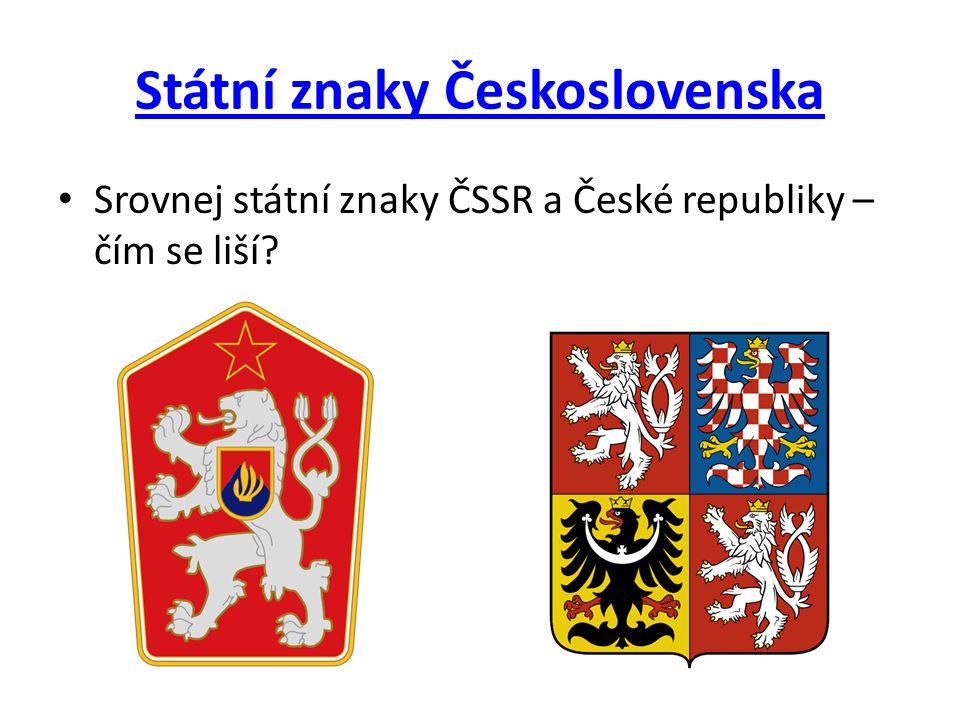 Státní znaky Československa