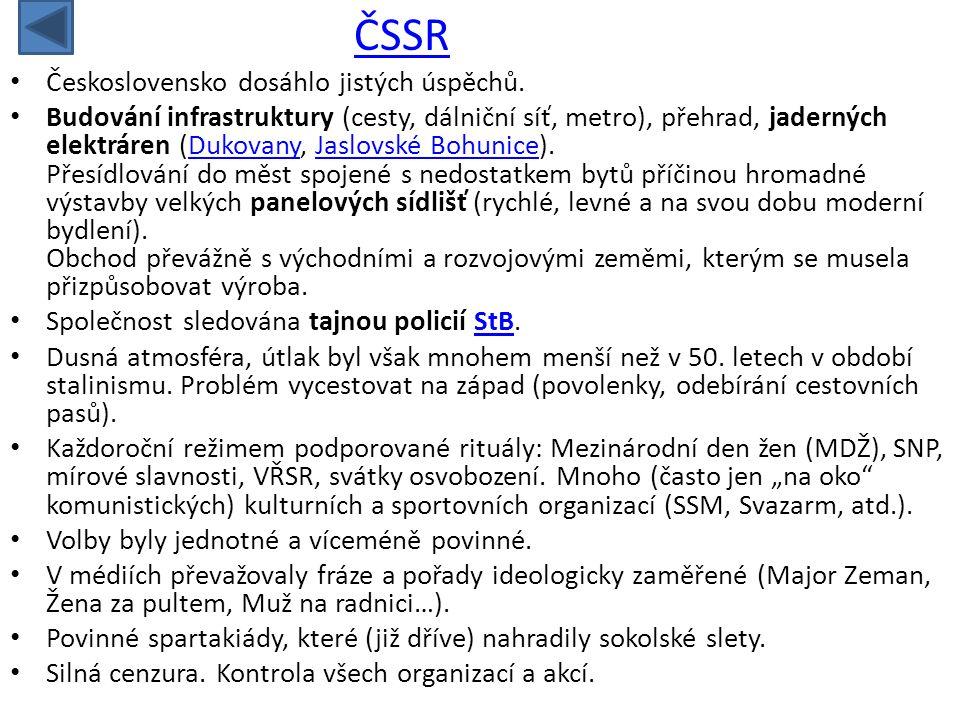 ČSSR Československo dosáhlo jistých úspěchů.