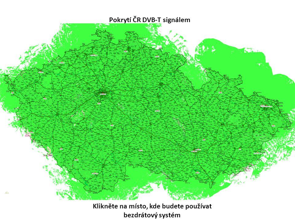 Pokrytí ČR DVB-T signálem