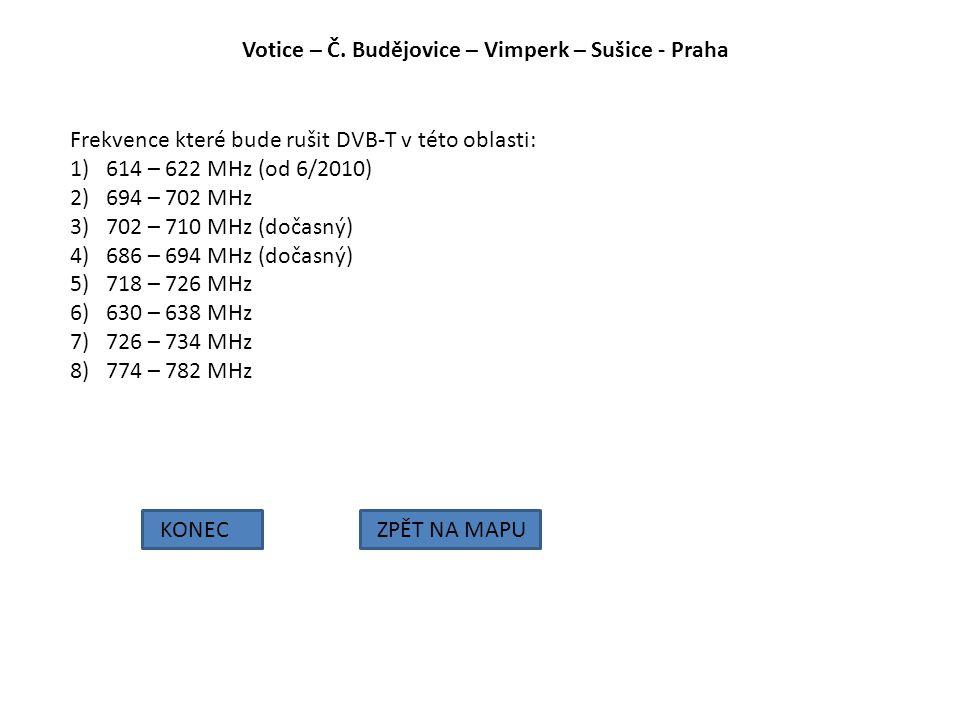 Votice – Č. Budějovice – Vimperk – Sušice - Praha