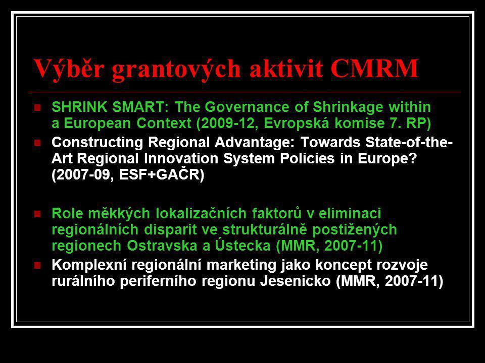 Výběr grantových aktivit CMRM