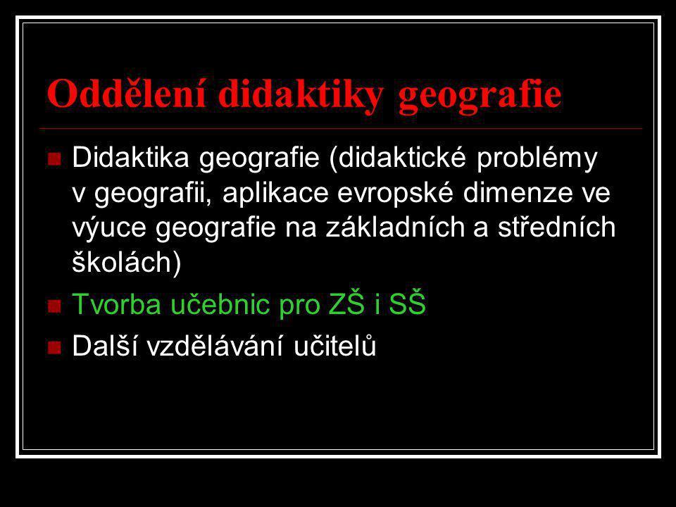 Oddělení didaktiky geografie