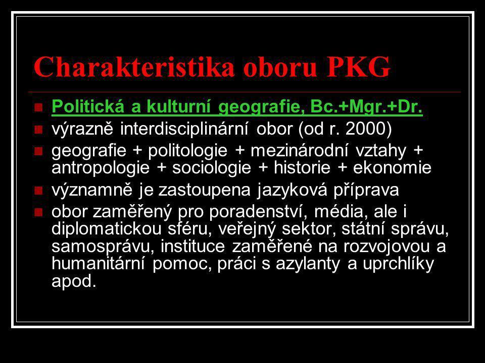 Charakteristika oboru PKG