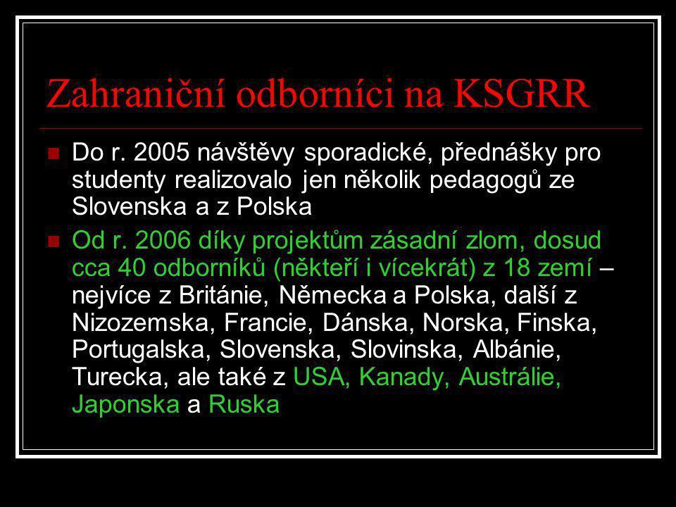 Zahraniční odborníci na KSGRR