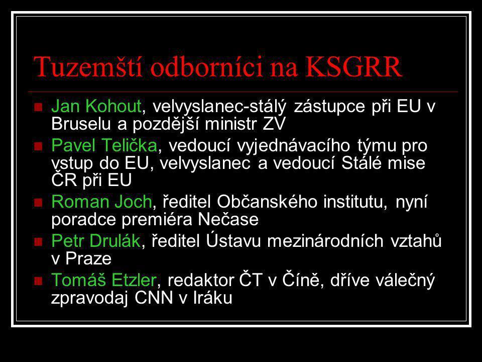 Tuzemští odborníci na KSGRR