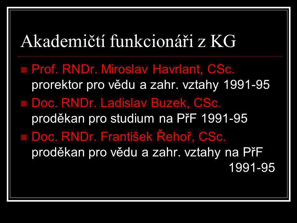 Akademičtí funkcionáři z KG
