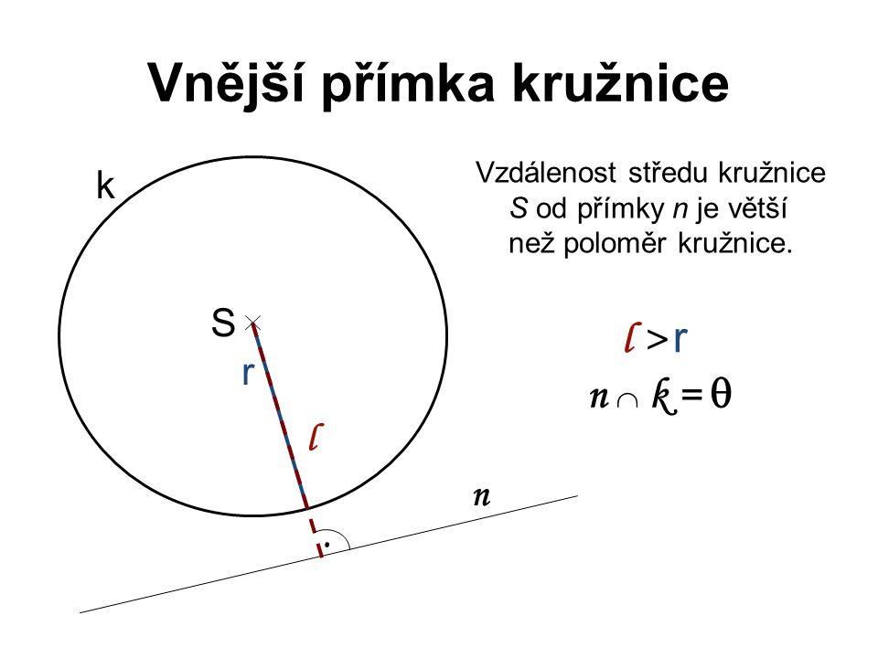 Vnější přímka kružnice