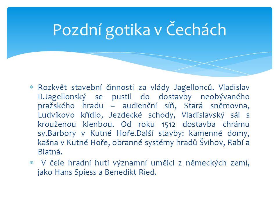 Pozdní gotika v Čechách
