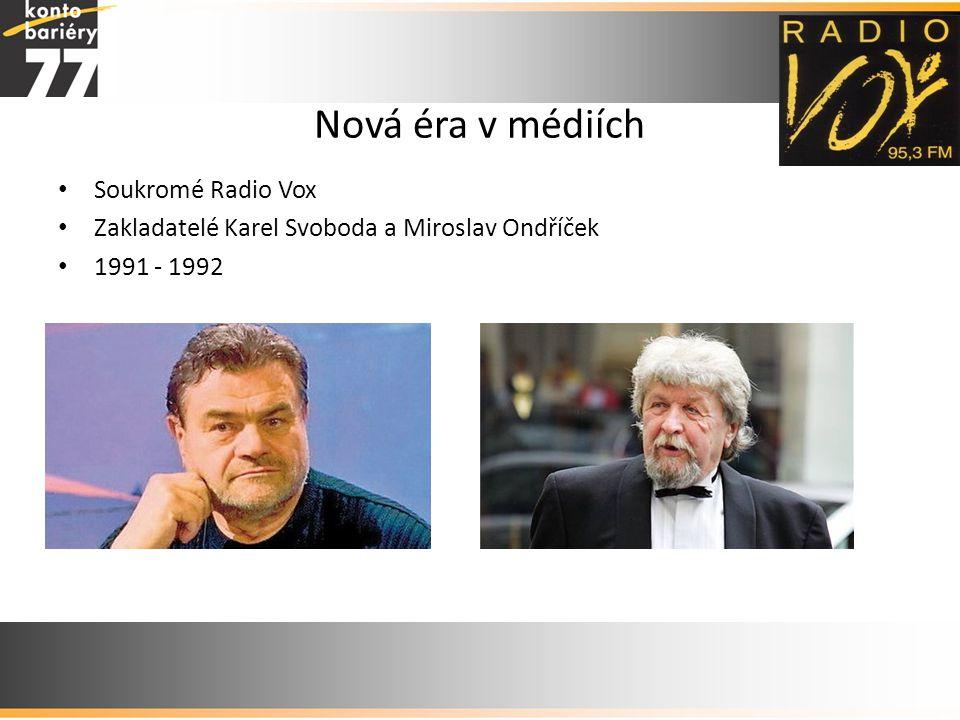 Nová éra v médiích Soukromé Radio Vox