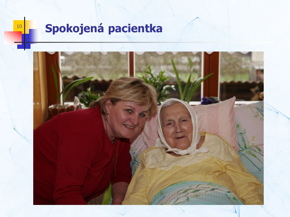 Spokojená pacientka