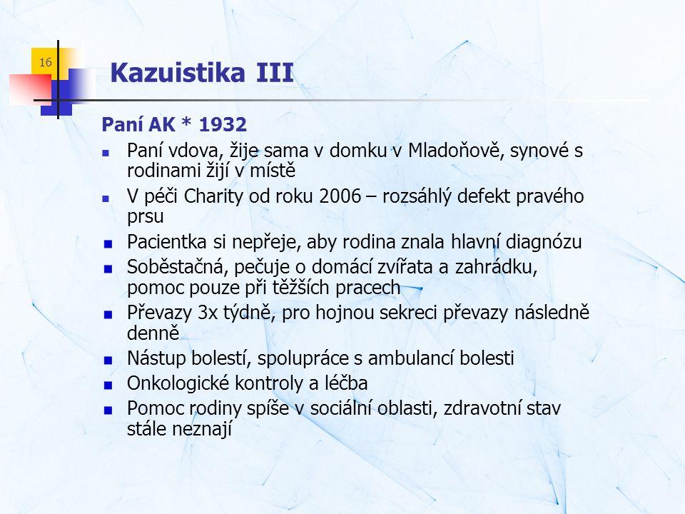 Kazuistika III Paní AK * 1932