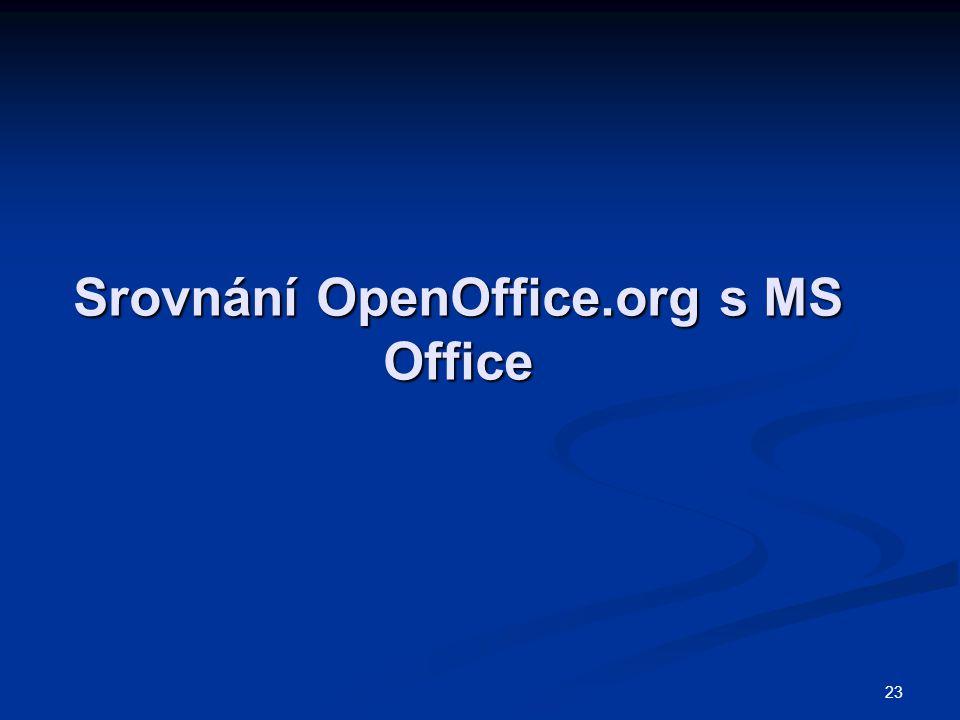 Srovnání OpenOffice.org s MS Office