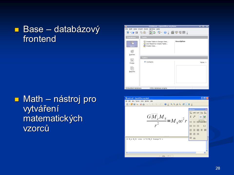 Base – databázový frontend