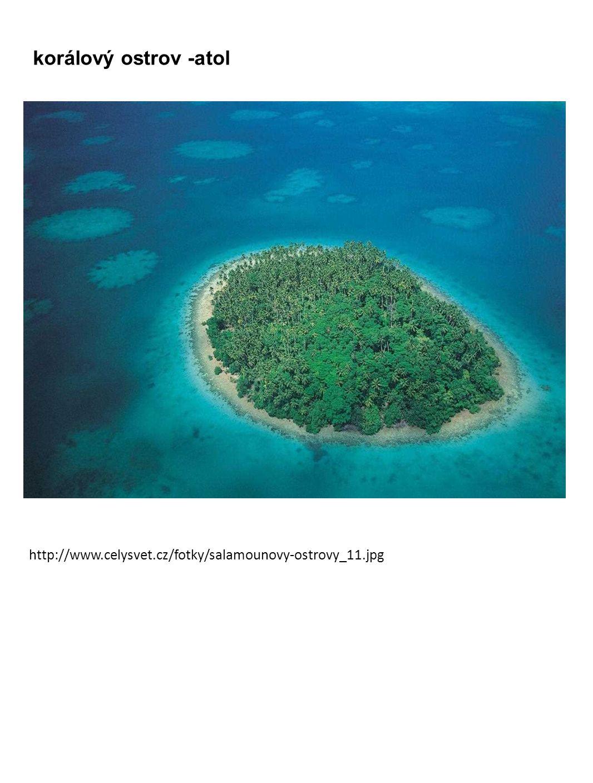 korálový ostrov -atol http://www.celysvet.cz/fotky/salamounovy-ostrovy_11.jpg
