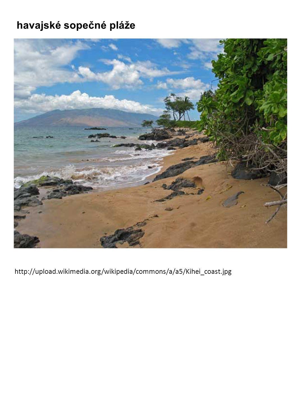 havajské sopečné pláže